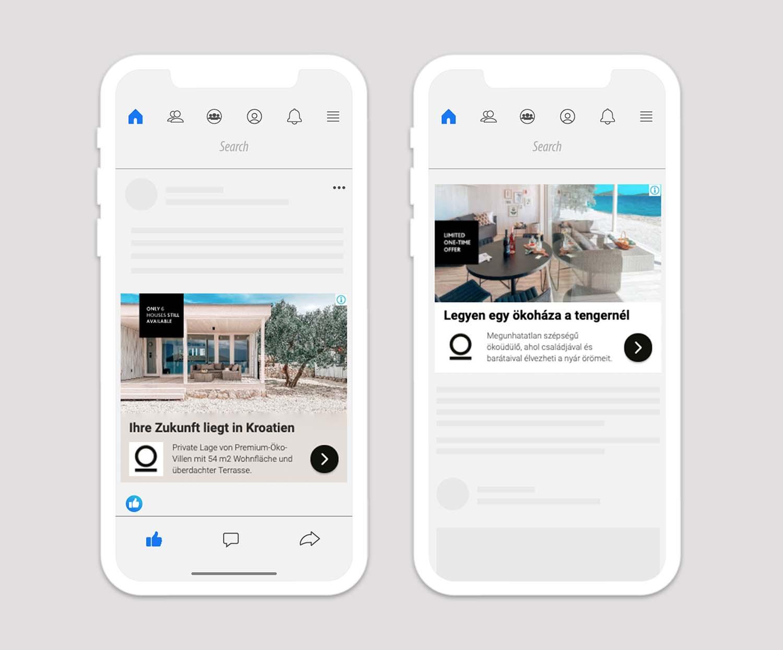Oikos Housing - Spletno oglaševanje - Primer oglasa Google Display